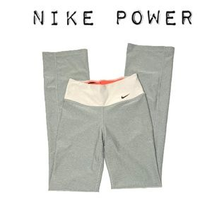 Gray Nike Power Training Yoga Pants